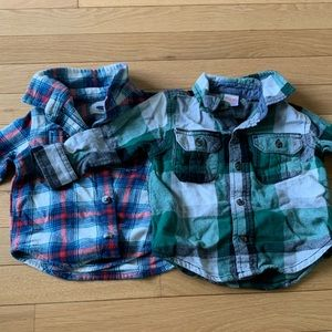 2 boys 12-18 month flannels